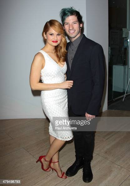 Actress Debby Ryan and her Boyfriend Musician Joshua Dun attend the 2nd annual Norma Jean Gala 2014 at The Paley Center for Media on March 18 2014 in...