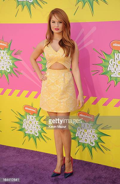 Actress Debby Ryan arrives at Nickelodeon's 26th Annual Kids' Choice Awards at USC Galen Center on March 23 2013 in Los Angeles California