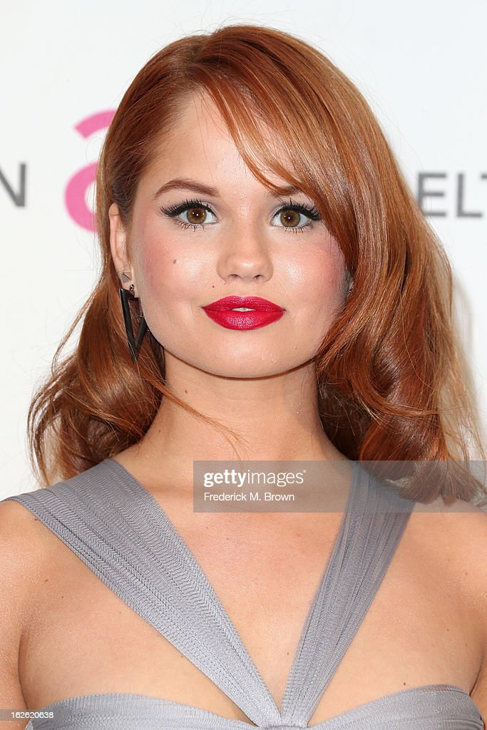 Actress Debby Ryan arrives at the 21st Annual Elton John AIDS Foundation's Oscar Viewing Party on February 24, 2013 in Los Angeles, California.