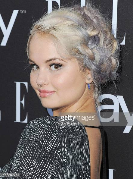 Actress Debby Ryan arrives at the 6th Annual ELLE Women In Music Celebration Presented by eBay at Boulevard3 on May 20 2015 in Hollywood California