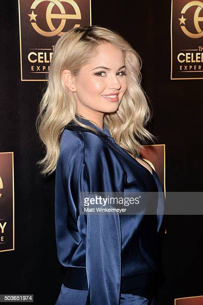Actress Debby Ryan arrives at The Celebrity Experience with Debby Ryan at Hilton Universal Hotel on January 6 2016 in Los Angeles California