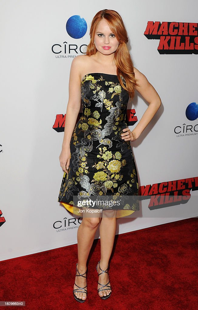 Actress <a gi-track='captionPersonalityLinkClicked' href=/galleries/search?phrase=Debby+Ryan&family=editorial&specificpeople=5443414 ng-click='$event.stopPropagation()'>Debby Ryan</a> arrives at the Los Angeles Premiere 'Machete Kills' at Regal Cinemas L.A. Live on October 2, 2013 in Los Angeles, California.