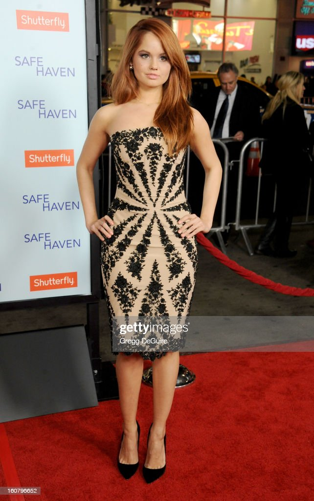 Actress Debby Ryan arrives at the Los Angeles premiere of 'Safe Haven' at TCL Chinese Theatre on February 5, 2013 in Hollywood, California.