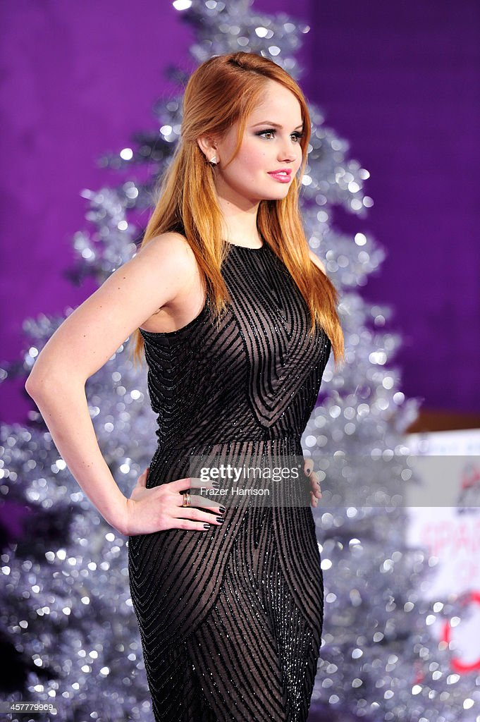 Actress Debby Ryan arrives at the premiere of Open Road Films' 'Justin Bieber's Believe' at Regal Cinemas L.A. Live on December 18, 2013 in Los Angeles, California.