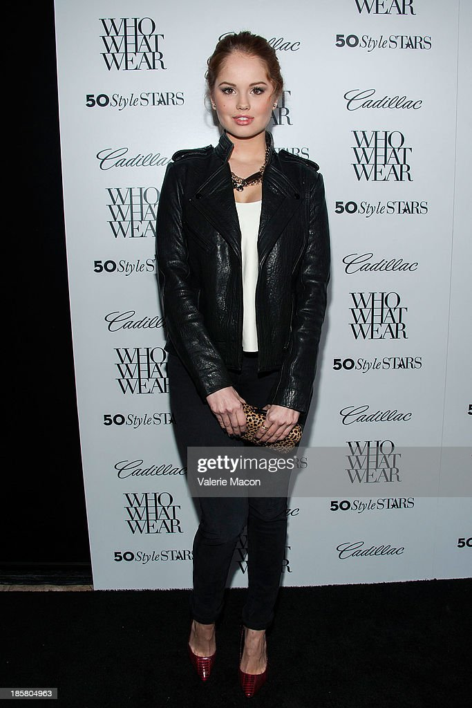 Actress Debby Ryan arrives at the Who What Wear And Cadillac's 50 Most Fashionable Women Of 2013 Event at The London Hotel on October 24, 2013 in West Hollywood, California.