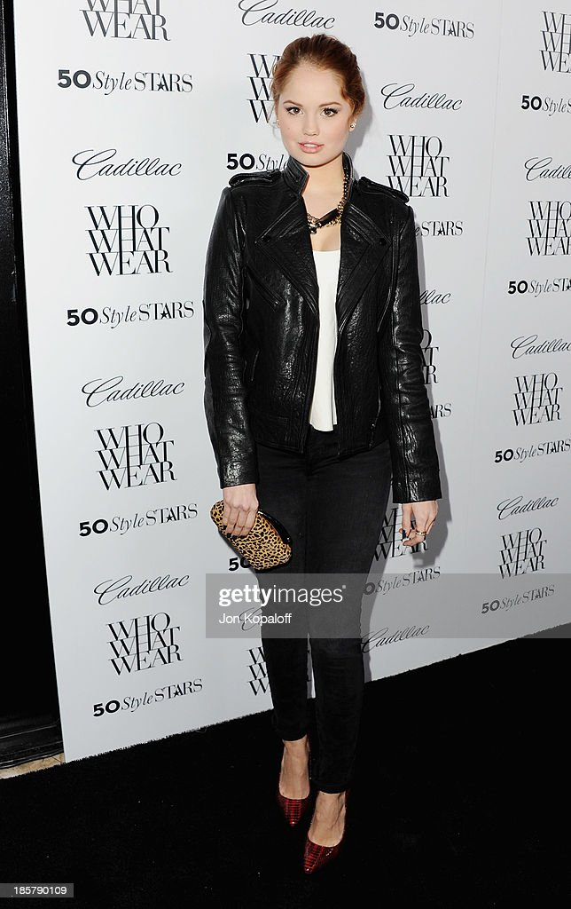 Actress Debby Ryan arrives at Who What Wear And Cadillac's 50 Most Fashionable Women Of 2013 at The London Hotel on October 24, 2013 in West Hollywood, California.