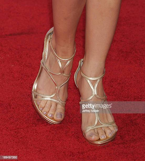 Actress Debby Ryan at the Los Angeles Premiere of 'Iron Man 3' at the El Capitan Theatre on April 24 2013 in Hollywood California