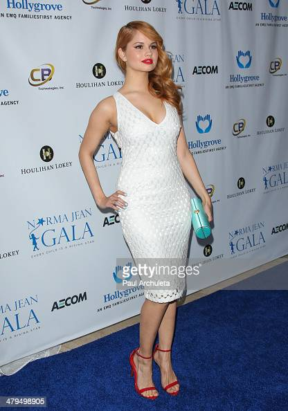 Actress Debby Ryan attends the 2nd annual Norma Jean Gala 2014 at The Paley Center for Media on March 18 2014 in Beverly Hills California