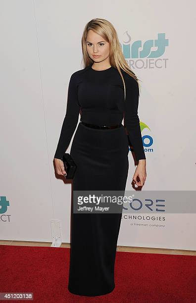 Actress Debby Ryan attends the 5th Annual Thirst Gala hosted by Jennifer Garner in partnership with Skyo and Relativity's 'Earth To Echo' on June 24...