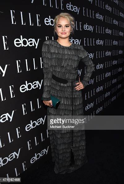 Actress Debby Ryan attends the 6th Annual ELLE Women In Music Celebration Presented By eBay Hosted by Robbie Myers with performances by Alanis...