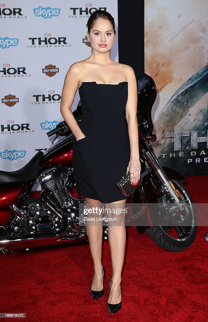 Actress <a gi-track='captionPersonalityLinkClicked' href=/galleries/search?phrase=Debby+Ryan&family=editorial&specificpeople=5443414 ng-click='$event.stopPropagation()'>Debby Ryan</a> attends the premiere of Marvel's 'Thor: The Dark World' at the El Capitan Theatre on November 4, 2013 in Hollywood, California.