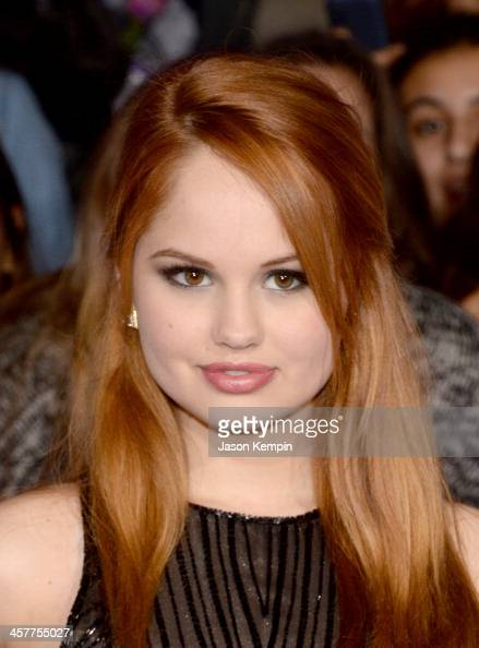 Actress Debby Ryan attends the premiere of Open Road Films' 'Justin Bieber's Believe' at Regal Cinemas LA Live on December 18 2013 in Los Angeles...
