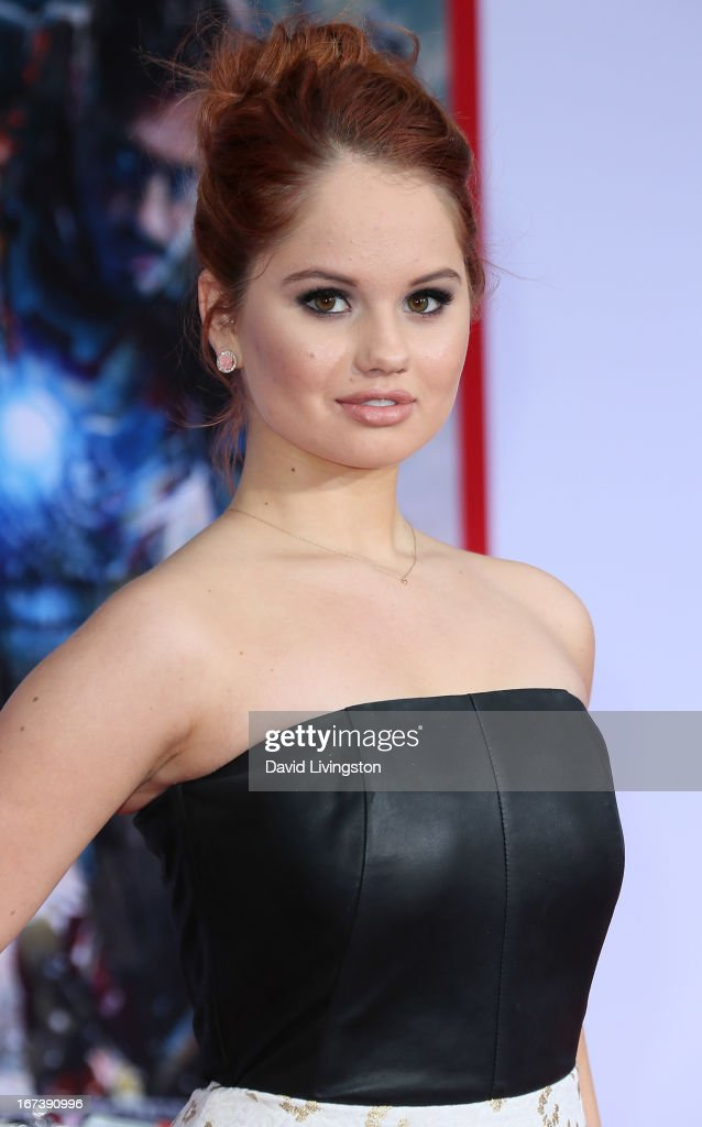 Actress Debby Ryan attends the premiere of Walt Disney Pictures' 'Iron Man 3' at the El Capitan Theatre on April 24, 2013 in Hollywood, California.