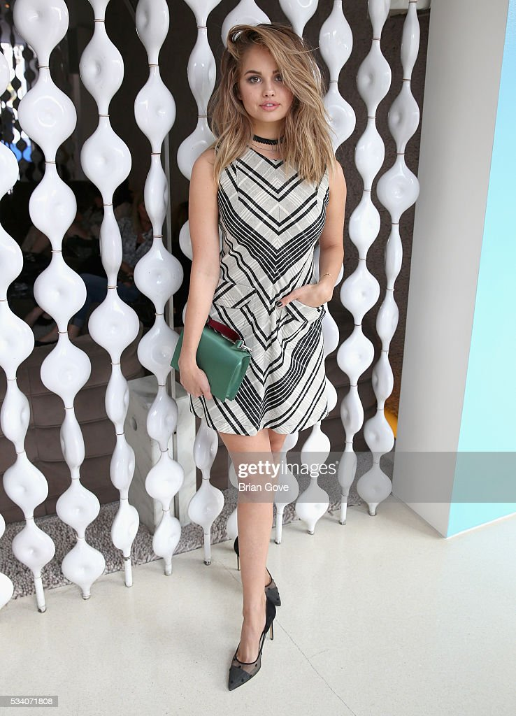 Actress <a gi-track='captionPersonalityLinkClicked' href=/galleries/search?phrase=Debby+Ryan&family=editorial&specificpeople=5443414 ng-click='$event.stopPropagation()'>Debby Ryan</a> attends the Wolk Morais Collection 3 Fashion Show on May 24, 2016 in Sacramento, California.