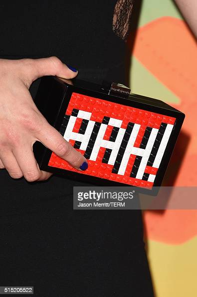 Actress Debby Ryan clutch detail attends Nickelodeon's 2016 Kids' Choice Awards at The Forum on March 12 2016 in Inglewood California