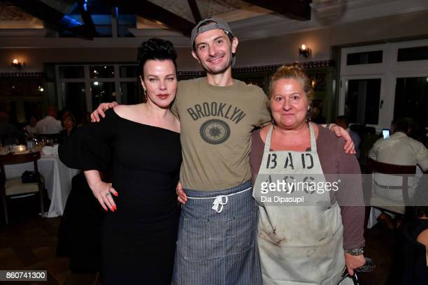Actress Debi Mazar and Chefs Beatrice Tosti and Gabriele Corcos attend a Dinner with Debi Mazar Gabriele Corcos and Beatrice Tosti part of the Bank...
