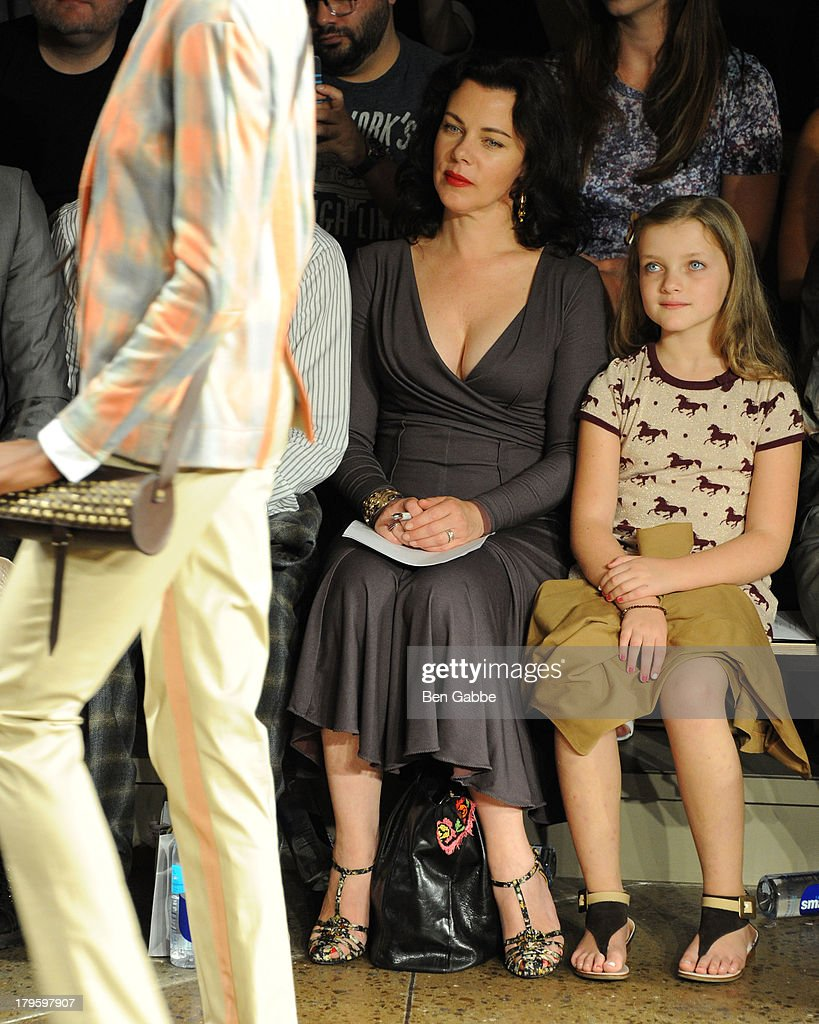 Actress <a gi-track='captionPersonalityLinkClicked' href=/galleries/search?phrase=Debi+Mazar&family=editorial&specificpeople=212937 ng-click='$event.stopPropagation()'>Debi Mazar</a> (L) and daughter Giulia Corcos attend the Costello Tagliapietra fashion show during MADE Fashion Week Spring 2014 at Milk Studios on September 5, 2013 in New York City.
