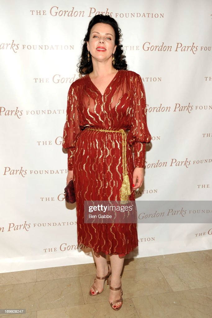 Actress <a gi-track='captionPersonalityLinkClicked' href=/galleries/search?phrase=Debi+Mazar&family=editorial&specificpeople=212937 ng-click='$event.stopPropagation()'>Debi Mazar</a> attends 2013 Gordon Parks Foundation Awards at The Plaza Hotel on June 4, 2013 in New York City.