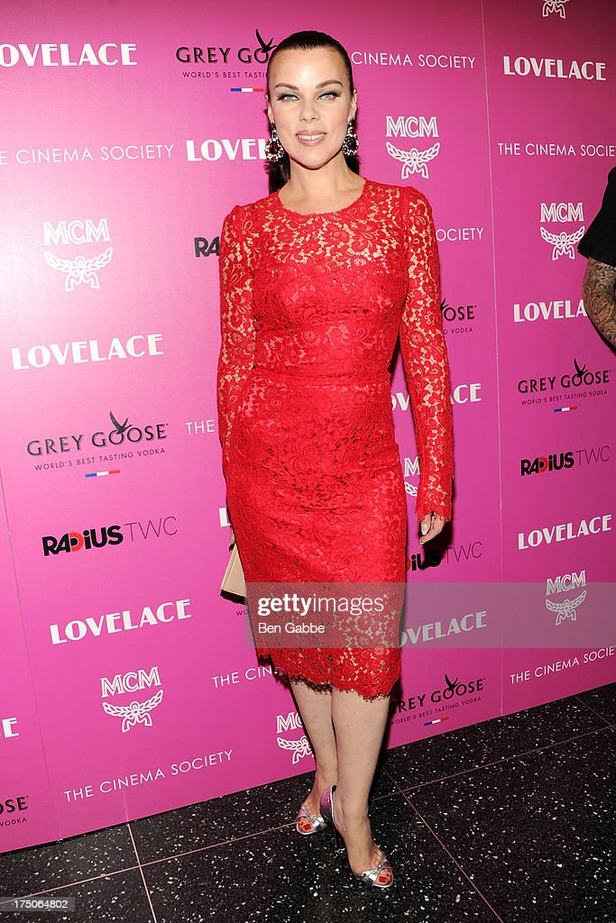 Actress Debi Mazar attends The Cinema Society and MCM with Grey Goose host a screening of Radius TWC's 'Lovelace' at The Museum of Modern Art on July 30, 2013 in New York City.