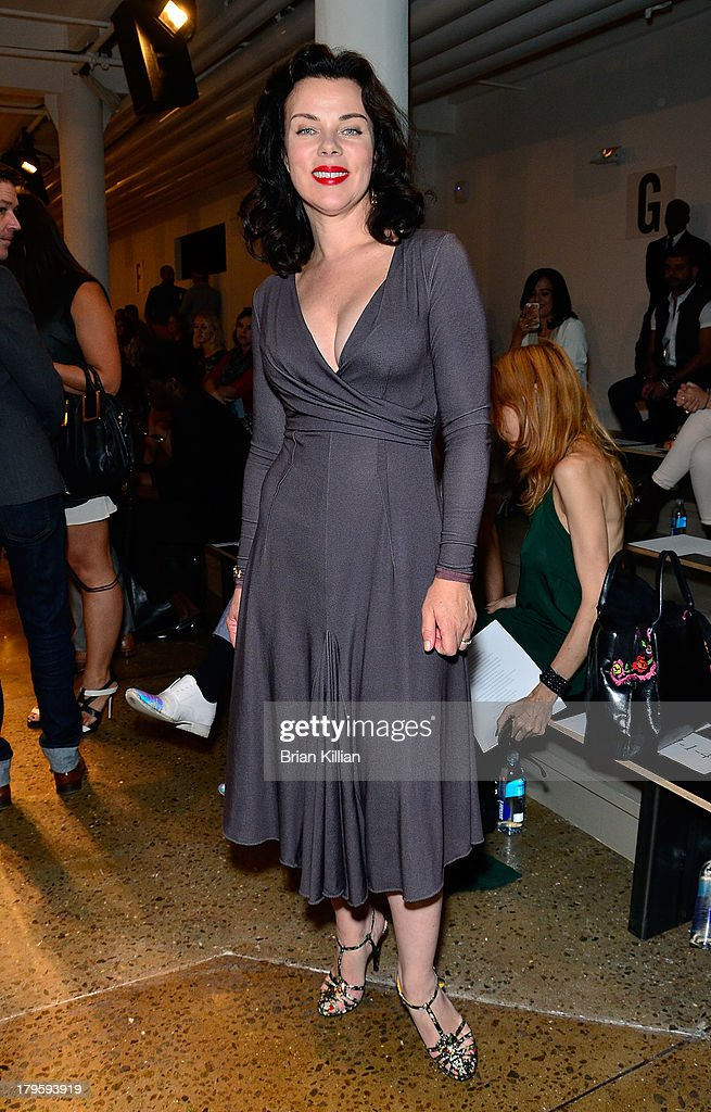 Actress <a gi-track='captionPersonalityLinkClicked' href=/galleries/search?phrase=Debi+Mazar&family=editorial&specificpeople=212937 ng-click='$event.stopPropagation()'>Debi Mazar</a> attends the Costello Tagliapietra show during Spring 2014 MADE Fashion Week at Milk Studios on September 5, 2013 in New York City.