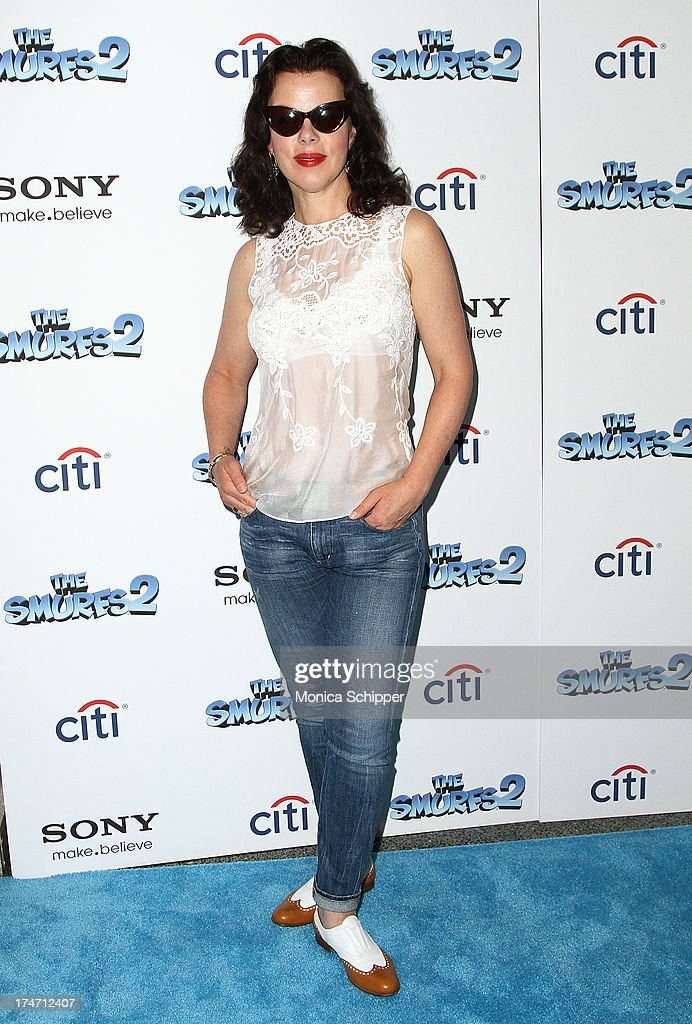 Actress Debi Mazar attends 'The Smurfs 2' New York Blue Carpet Screening at Lighthouse International Theater on July 28, 2013 in New York City.