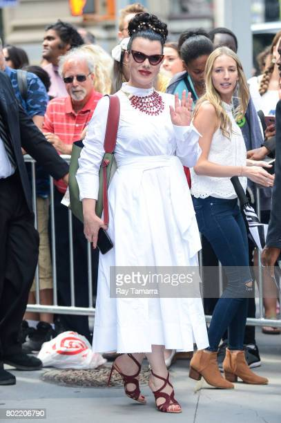 Actress Debi Mazar leaves the 'AOL Build' taping at the AOL Studios on June 27 2017 in New York City