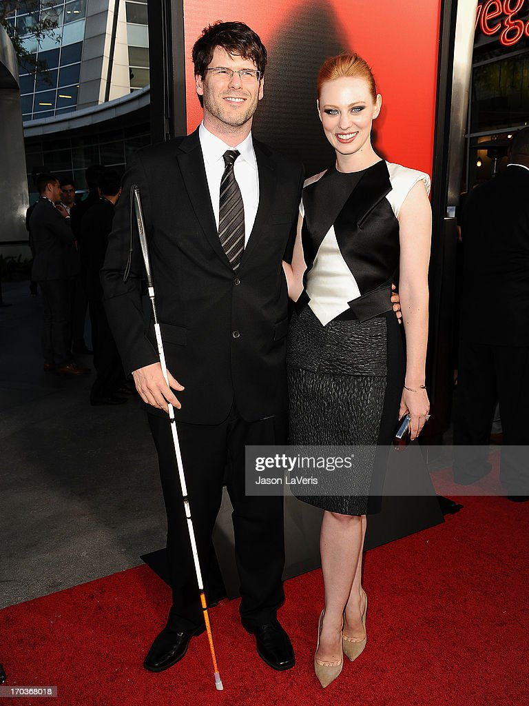Actress Deborah Ann Woll (R) and Edward 'E.J.' Scott attend the season 6 premiere of HBO's 'True Blood' at ArcLight Cinemas Cinerama Dome on June 11, 2013 in Hollywood, California.