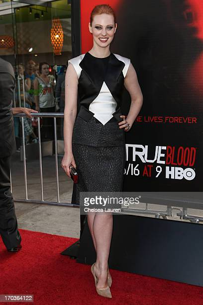 Actress Deborah Ann Woll arrives at HBO's 'True Blood' season 6 premiere at ArcLight Cinemas Cinerama Dome on June 11 2013 in Hollywood California