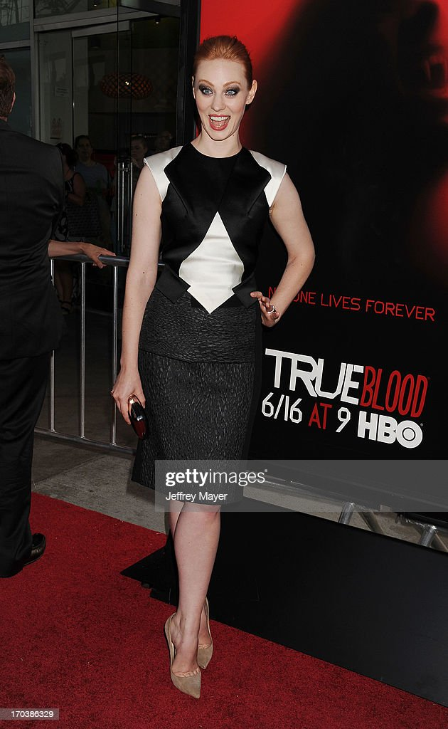 Actress Deborah Ann Woll arrives at HBO's 'True Blood' season 6 premiere at ArcLight Cinemas Cinerama Dome on June 11, 2013 in Hollywood, California.