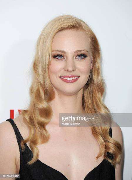 Actress Deborah Ann Woll arrives for the Netflix Australia New Zealand launch party at Museum of Contemporary Art on March 24 2015 in Sydney Australia