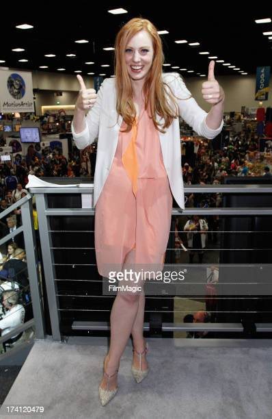 Actress Deborah Ann Woll attends HBO's 'True Blood' Cast Autograph Signing at San Diego Convention Center on July 20 2013 in San Diego California