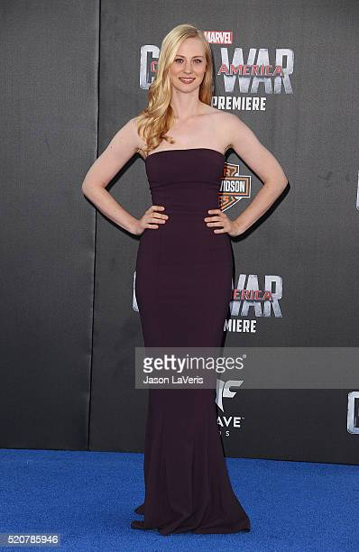 Actress Deborah Ann Woll attends the premiere of 'Captain America Civil War' at Dolby Theatre on April 12 2016 in Hollywood California