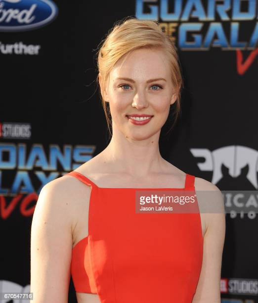 Actress Deborah Ann Woll attends the premiere of 'Guardians of the Galaxy Vol 2' at Dolby Theatre on April 19 2017 in Hollywood California