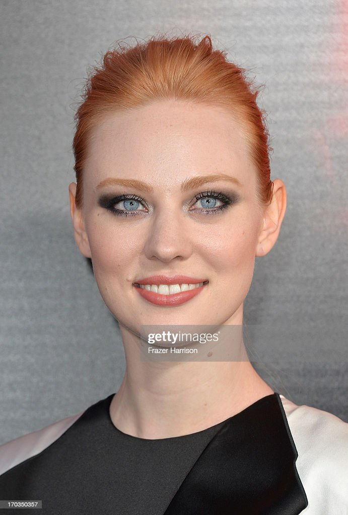 Actress Deborah Ann Woll attends the premiere of HBO's 'True Blood' Season 6 at ArcLight Cinemas Cinerama Dome on June 11, 2013 in Hollywood, California.