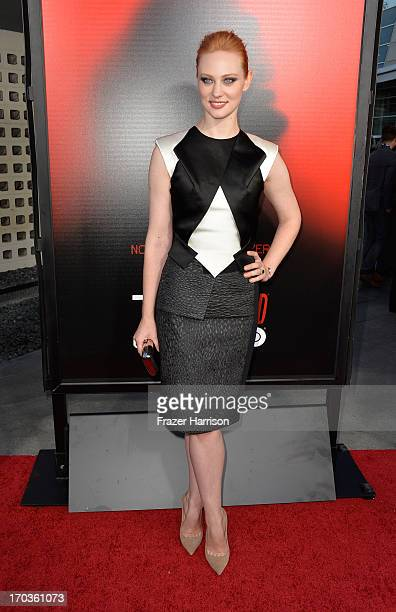 Actress Deborah Ann Woll attends the premiere of HBO's 'True Blood' Season 6 at ArcLight Cinemas Cinerama Dome on June 11 2013 in Hollywood California