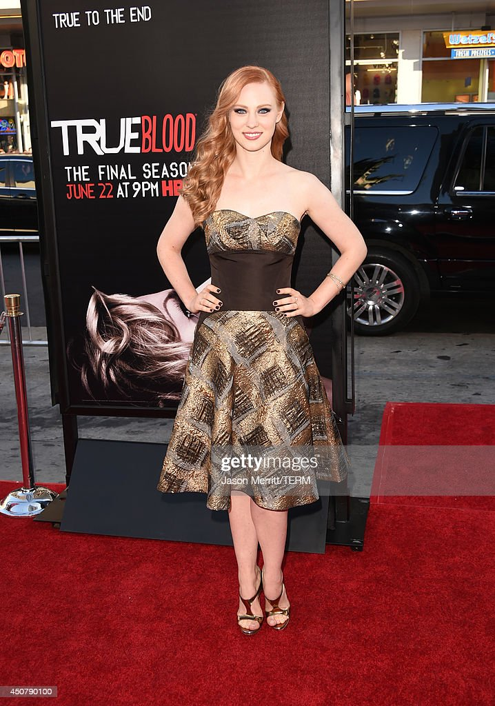 Actress <a gi-track='captionPersonalityLinkClicked' href=/galleries/search?phrase=Deborah+Ann+Woll&family=editorial&specificpeople=5909212 ng-click='$event.stopPropagation()'>Deborah Ann Woll</a> attends the premiere of HBO's 'True Blood' season 7 and final season at TCL Chinese Theatre on June 17, 2014 in Hollywood, California.