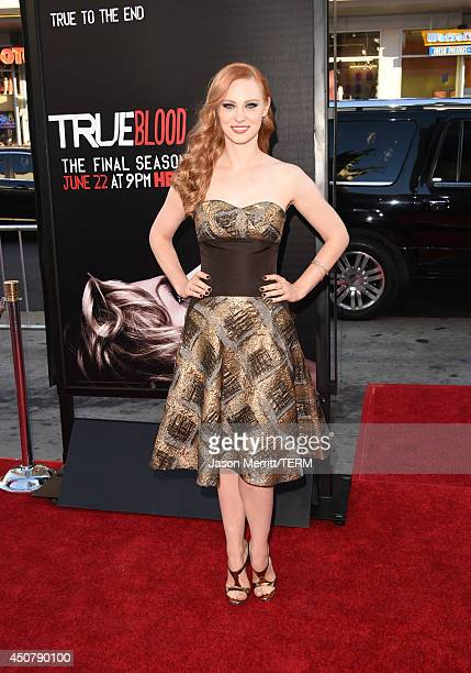 Actress Deborah Ann Woll attends the premiere of HBO's 'True Blood' season 7 and final season at TCL Chinese Theatre on June 17 2014 in Hollywood...