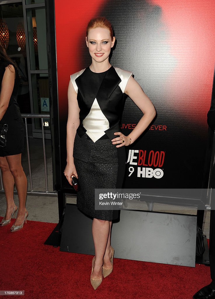 Actress <a gi-track='captionPersonalityLinkClicked' href=/galleries/search?phrase=Deborah+Ann+Woll&family=editorial&specificpeople=5909212 ng-click='$event.stopPropagation()'>Deborah Ann Woll</a> attends the premiere of HBO's 'True Blood' at ArcLight Cinemas Cinerama Dome on June 11, 2013 in Hollywood, California.