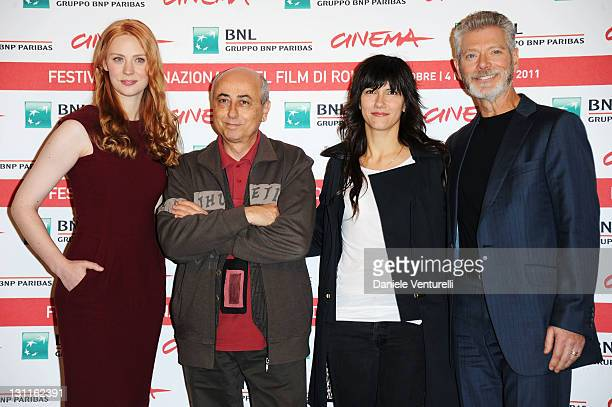 Actress Deborah Ann Woll director Roberto Faenza musician Elisa Toffoli and actor Stephen Lang attend the 'Un Giorno Questo Dolore Ti Sara Utile'...