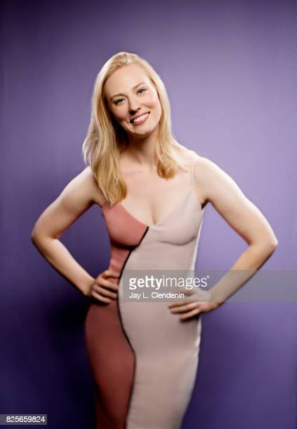 Actress Deborah Ann Woll from the television series 'Marvel's The Punisher' is photographed in the LA Times photo studio at ComicCon 2017 in San...