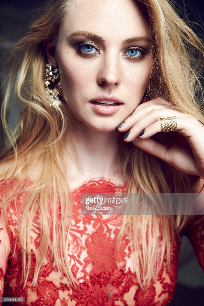 Actress Deborah Ann Woll is photographed for Glow Magazine on April 15, 2015 in Toronto, Ontario. Published Image.