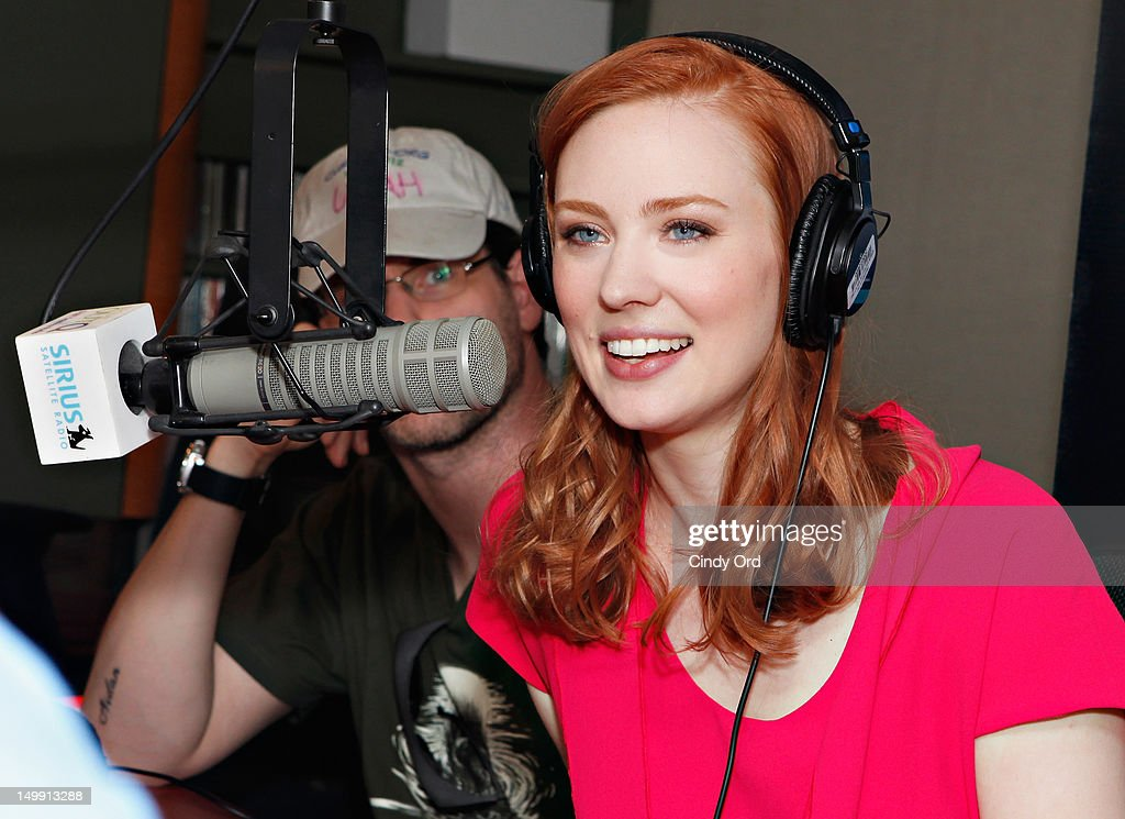 Actress <a gi-track='captionPersonalityLinkClicked' href=/galleries/search?phrase=Deborah+Ann+Woll&family=editorial&specificpeople=5909212 ng-click='$event.stopPropagation()'>Deborah Ann Woll</a> visits SiriusXM OutQ's Frank DeCaro Show at SiriusXM Studio on August 6, 2012 in New York City.