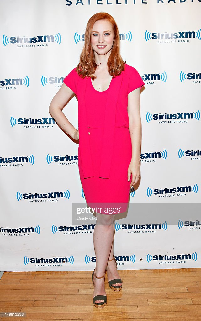 Actress Deborah Ann Woll visits SiriusXM Studio on August 6, 2012 in New York City.