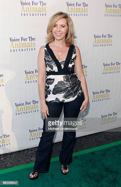Actress Deborah Carson arrives at a benefit hosted by Lily Tomlin to benefit Voice for the Animals Foundation featuring the stars of 'Laugh In' at...