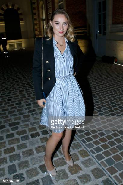 Actress Deborah Francois attends the 'Diner Surrealiste' to celebrate the 241th birthday of 'Maison Louis Roederer' on October 4 2017 in Reims France