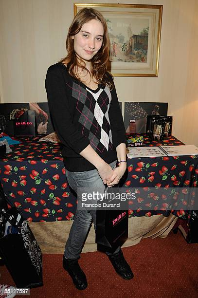 Actress Deborah Francois attends the 'Espace Glamour Chic' Cesars Gift Lounge at Hotel Napoleon on February 25 2009 in Paris France 'Espace Glamour...