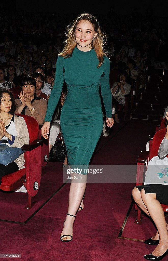 Actress Deborah Francois attends the French Film Festival 2013 at Yurakucho Asahi Hall on June 21, 2013 in Tokyo, Japan.