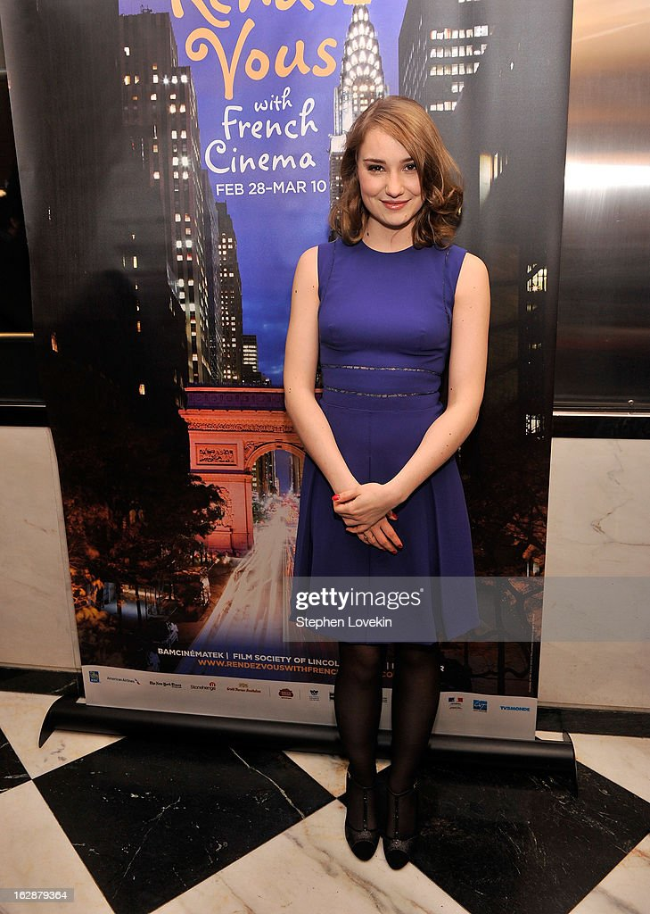 Actress Deborah Francois attends the U.S. premiere of 'Populaire', hosted by The Film Society of Lincoln Center, UniFrance Films and The Weinstein Company at The Paris Theatre on February 28, 2013 in New York City.