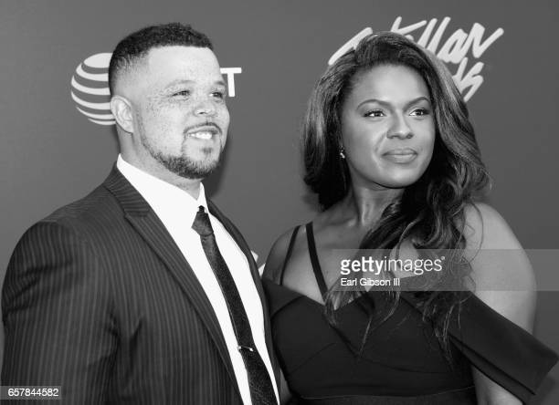Actress Deborah Joy Winans and guest arrive at the 32nd annual Stellar Gospel Music Awards at the Orleans Arena on March 25 2017 in Las Vegas Nevada
