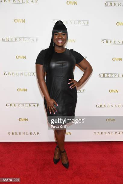 Actress Deborah Joy Winans attends 'Greenleaf' Season 2 Press Luncheon at Four Seasons Hotel on February 3 2017 in Atlanta Georgia